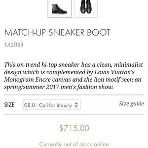 bb9d5099121 Louis Vuitton Shoes - Match up louis vuitton sneaker boot